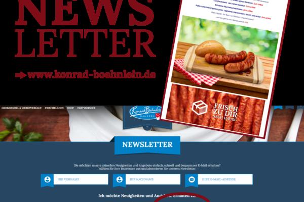 Immer up to date mit unserem Heimatversand-Newsletter!
